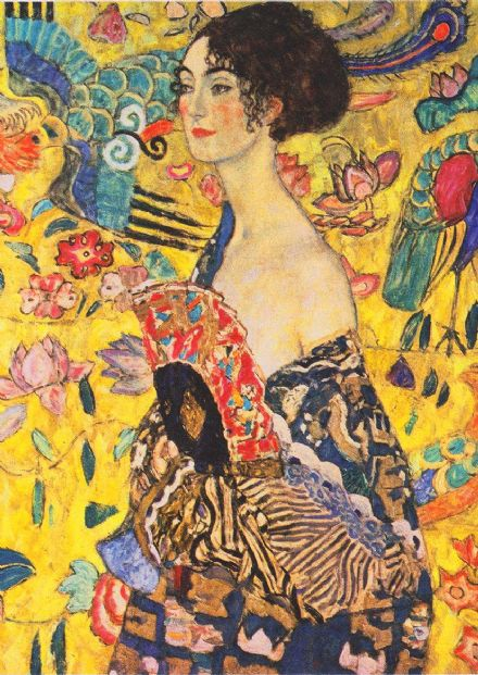 Klimt, Gustav: Lady with a Fan (Detail). Fine Art Print/Poster (0006)